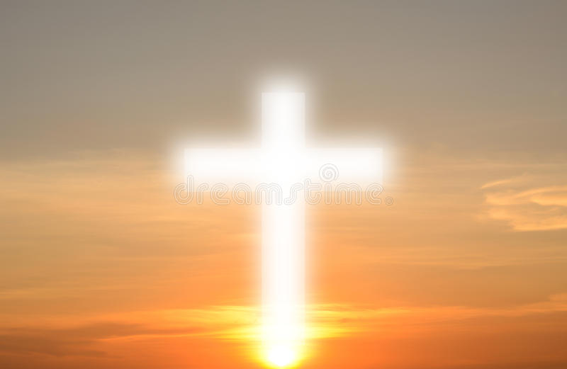 Le concept de la naissance du christianisme image libre de droits