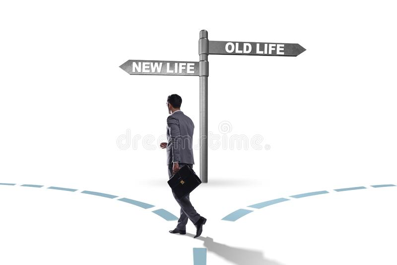 Le concept de la nouvelle et vieille vie photo libre de droits