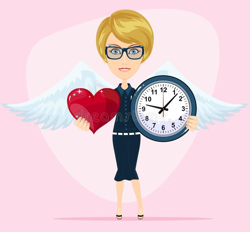 Le concept de la période de l'amour, la période de la date, le mariage, le jour de St Valentine illustration de vecteur