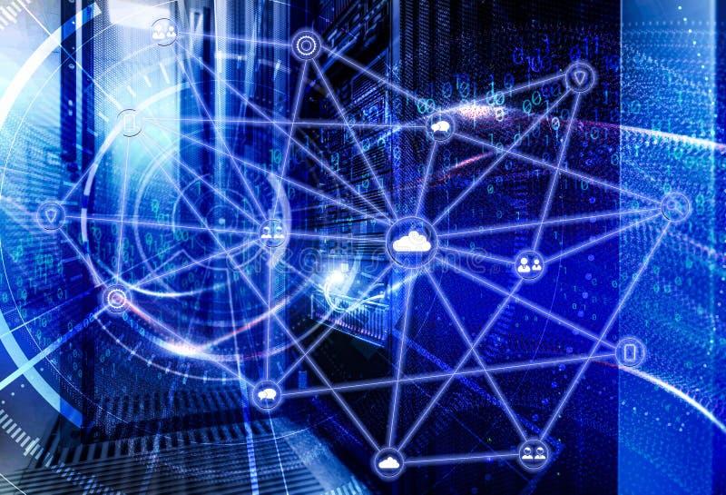 Le concept de la technologie de l'information, des grandes donn?es, de la s?curit? et d'entailler Les vagues de la couverture de  image stock