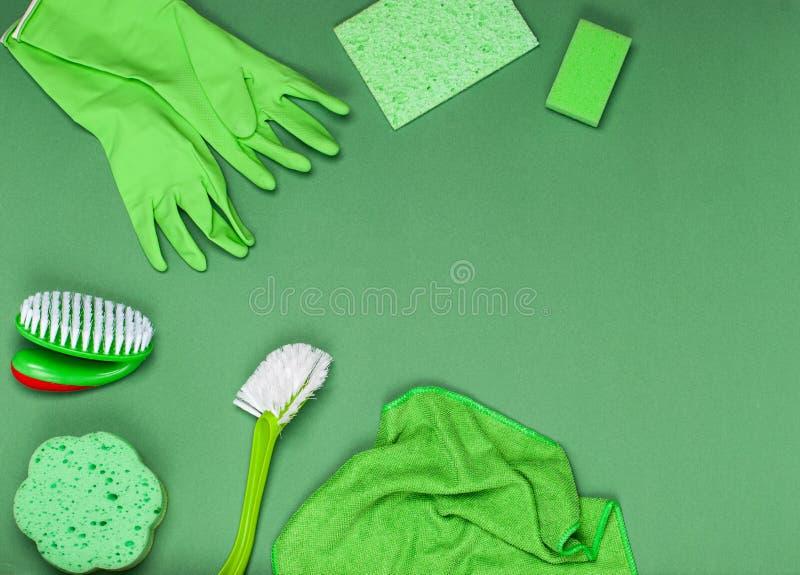 Le concept de nettoyage, de propreté et d'hygiène photographie stock libre de droits
