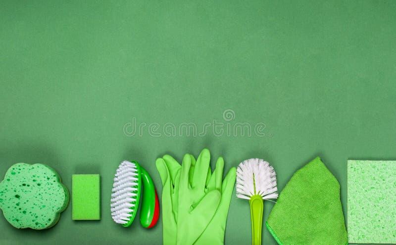 Le concept de nettoyage, de propreté et d'hygiène image stock