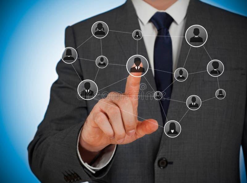 le concept a digitalement produit salut du social de recherche de réseau d'image photographie stock