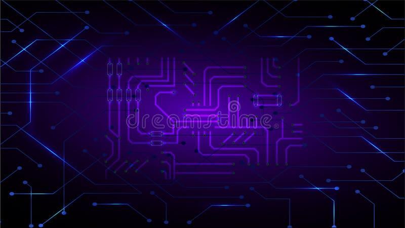 Le concept distribué d'informatique de registre a basé le fond abstrait de matrice illustration stock