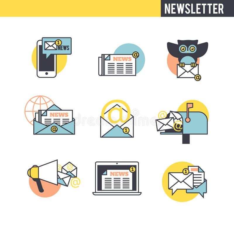 Le concept du bulletin d'information illustration de vecteur