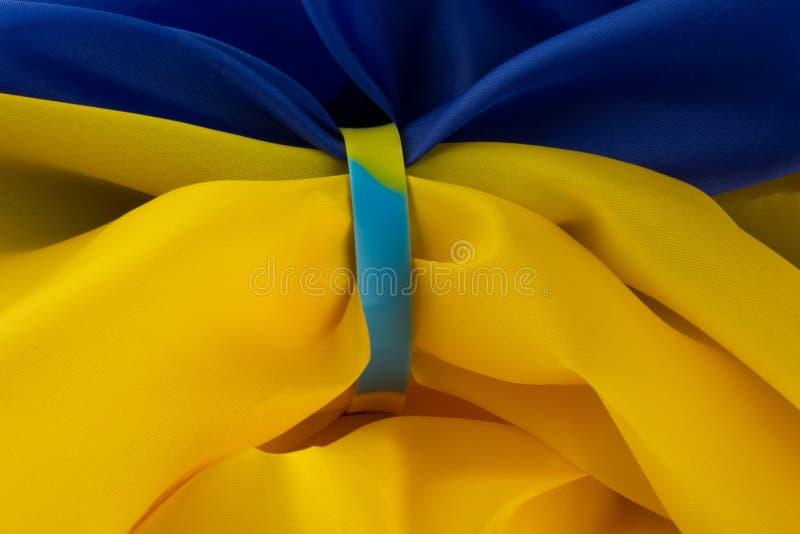 Le concept du Jour de la Déclaration d'Indépendance de l'Ukraine photographie stock