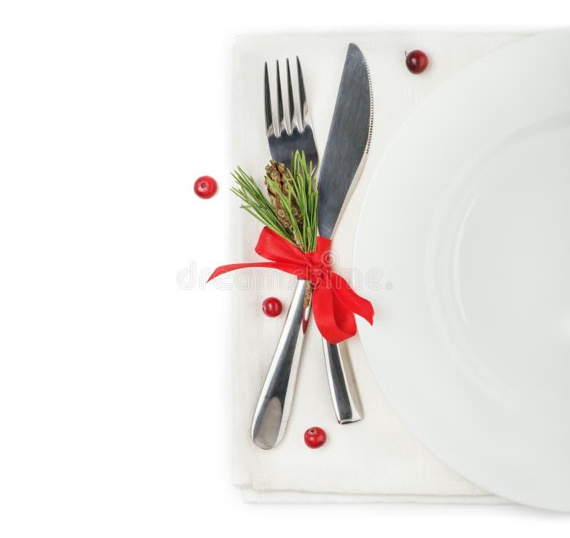 Le concept du menu de Noël image libre de droits