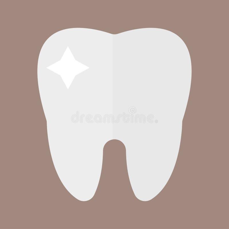 Le concept et la médecine médicaux de soins de santé de soins de santé de dentiste de dent de recherches plates d'icône équipent  illustration libre de droits