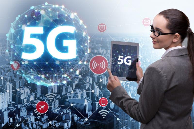 Le concept 5g de la technologie de connexion internet illustration stock