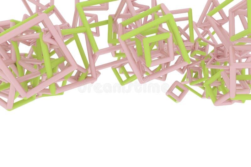 Le concepture de r?sum? g?om?trique, le groupe de triangle ou le vol carr?, ont enclench? Papier peint pour la conception graphiq illustration de vecteur