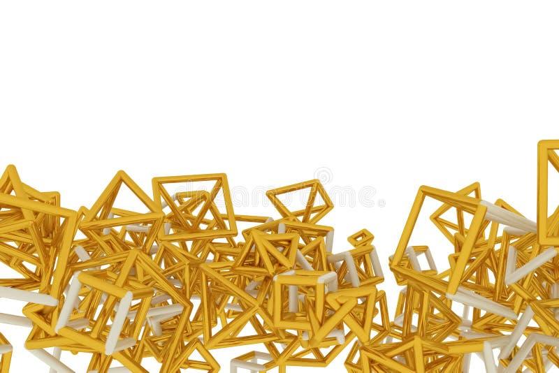 Le concepture de r?sum? g?om?trique, le groupe de triangle ou le vol carr?, ont enclench? Papier peint pour la conception graphiq illustration stock