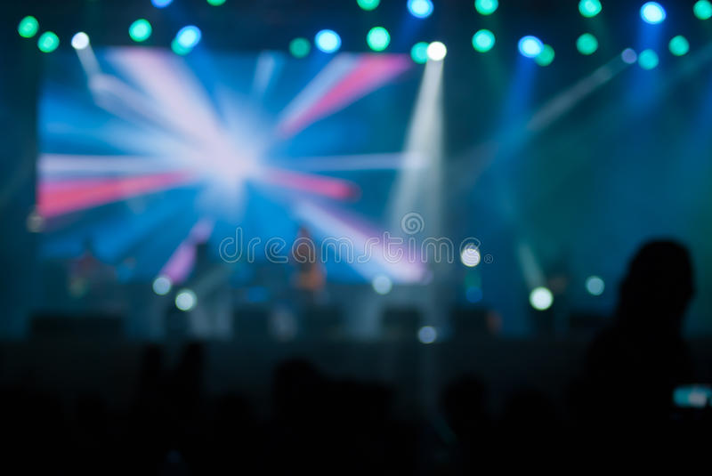 Le concert allume le bokeh photos stock