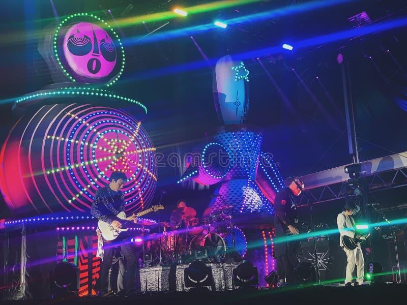 Le concert de Smashing Pumpkins photo stock
