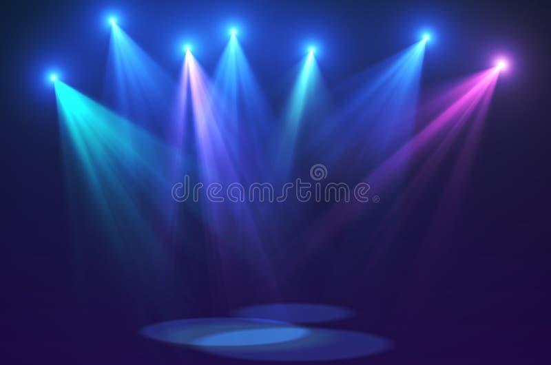 Le concert s'allume (la haute résolution superbe) image stock