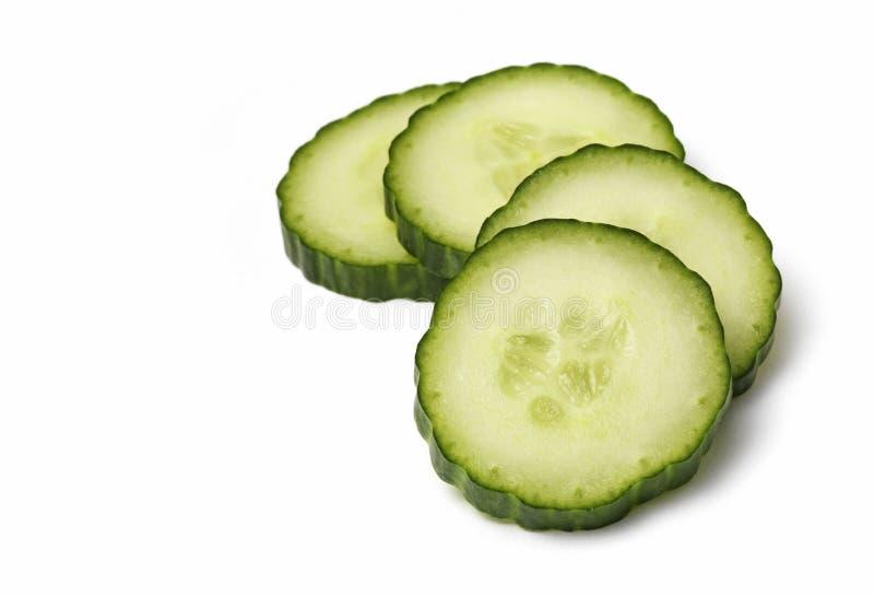 le concombre a isolé photo stock