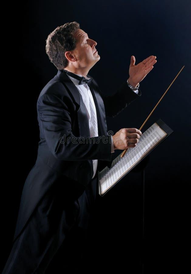Le conducteur de musique image stock