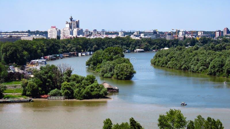 Le confluent des rivières photos libres de droits