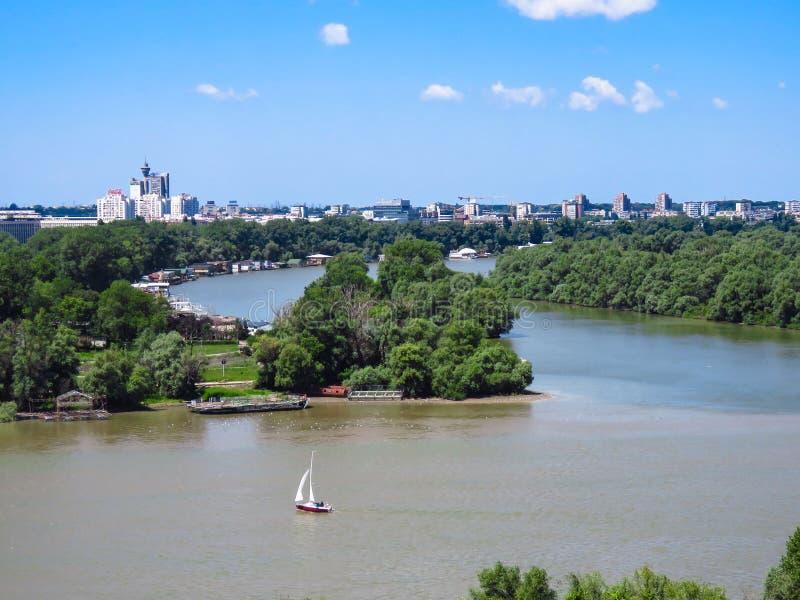 Le confluent des rivières photographie stock libre de droits