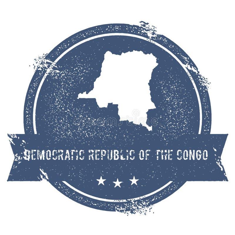 Le Congo, la République Democratic de la marque illustration libre de droits