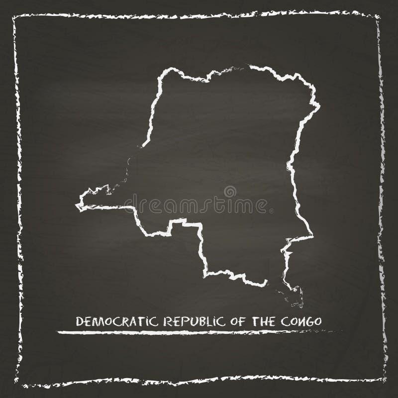 Le Congo, la République Democratic du contour illustration libre de droits
