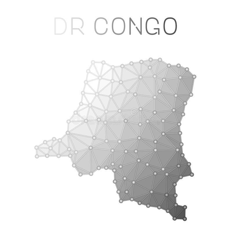 Le Congo, la République Democratic du polygonal illustration de vecteur