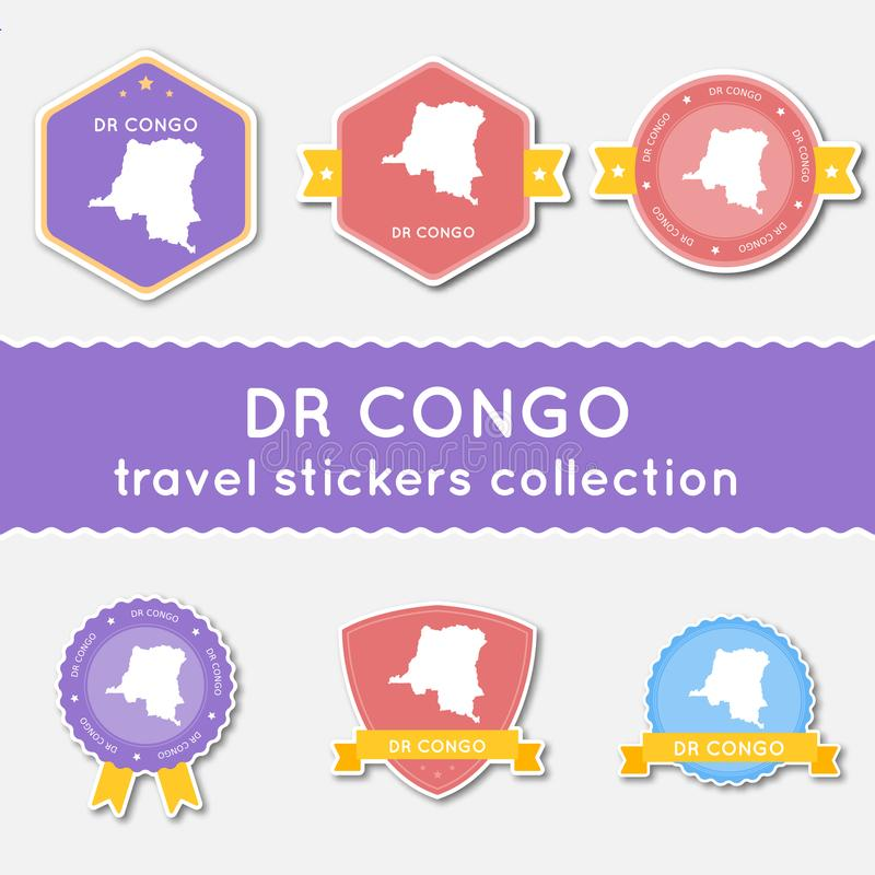 Le Congo, la République Democratic du voyage illustration stock