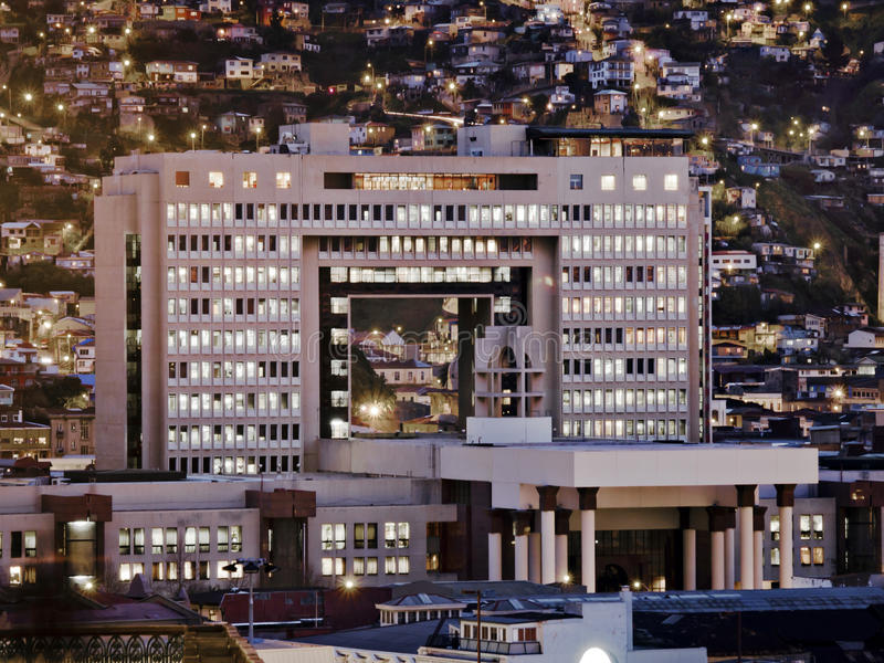 Le congrès chilien photographie stock libre de droits