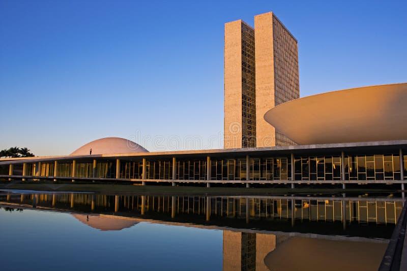 Le congrès national brésilien à Brasilia. photographie stock