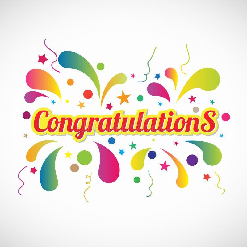 Le congratulazioni gialle rosse mandano un sms a ed il vettore astratto dei fuochi d'artificio royalty illustrazione gratis