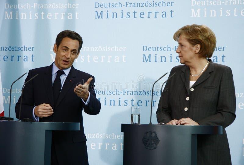 Le Conseil allemand-français de ministre photographie stock