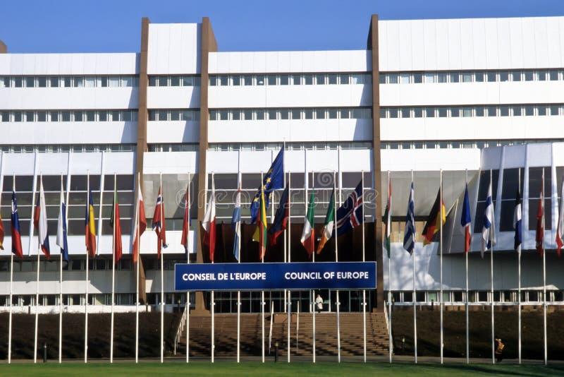Le Conseil de l'Europe - Strasbourg, France photo libre de droits