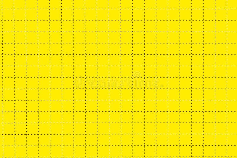 Le conseil de plastique jaune avec la ligne pointillée aiment comme papier de graphique photos stock