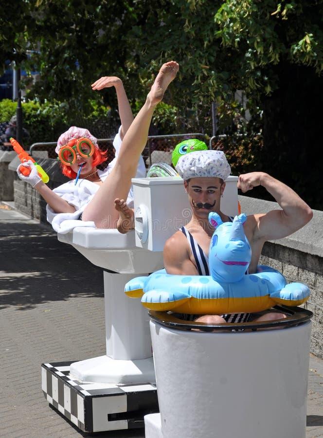 Le Conseil de Privvy, festival de Buskers du monde image stock