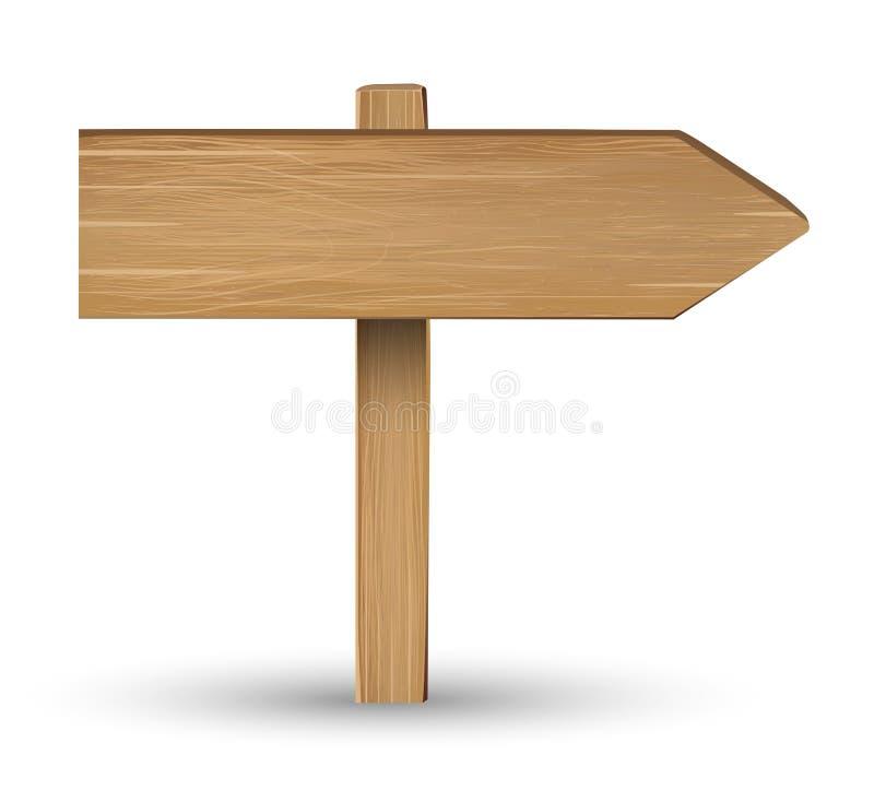 Le conseil en bois de direction se connectent un fond blanc illustration de vecteur