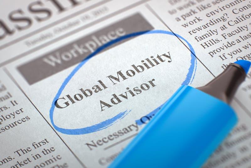 Le conseiller global de mobilité joignent notre équipe rendu 3d illustration stock