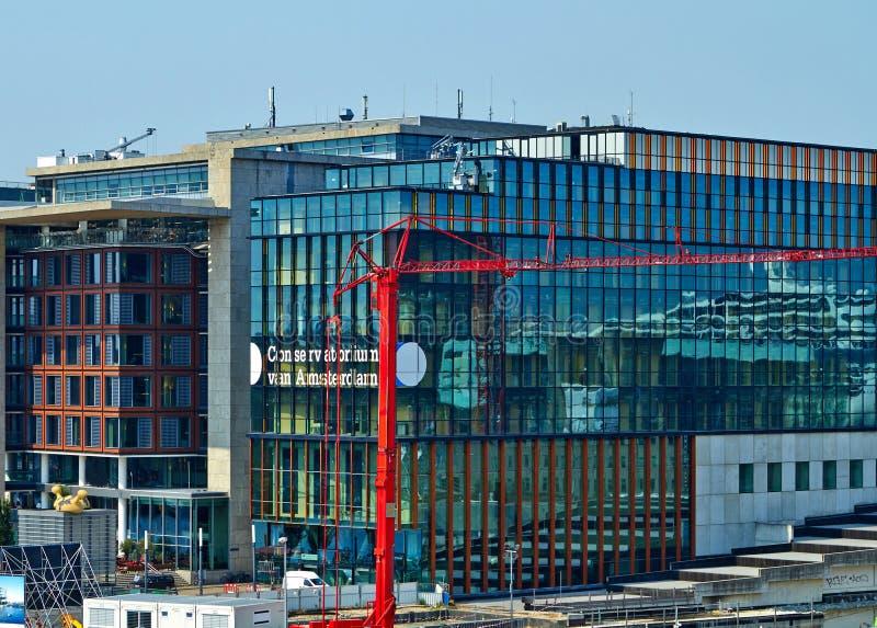 Le conservatoire d'Amsterdam images stock