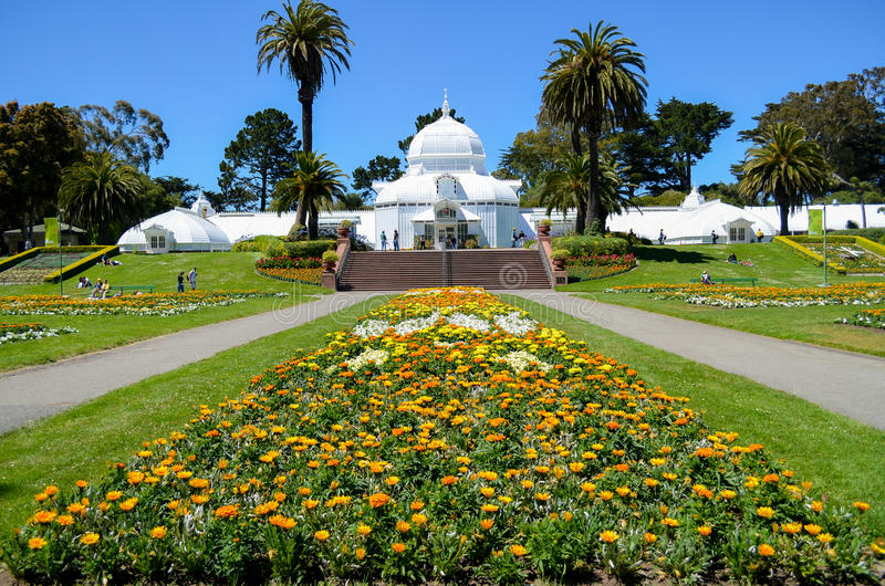 Le conservatoire des fleurs, Golden Gate Park, San Francisco photographie stock