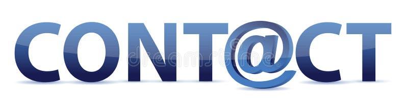 Le contact de mot avec l'email dit illustration libre de droits