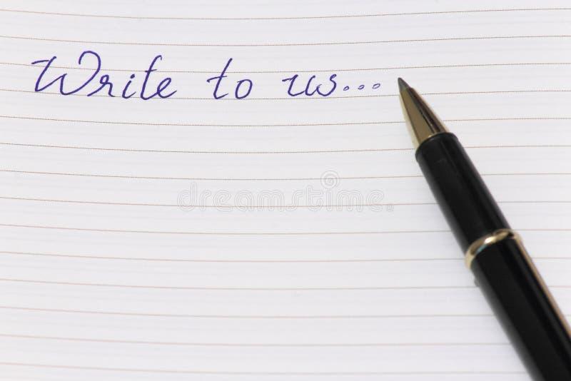 Le contactez-nous ou nous écrivent photo libre de droits