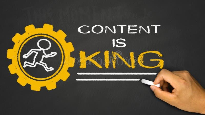 Le contenu est roi photos libres de droits