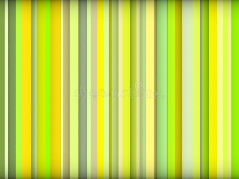 Le contexte barré par abstrait de couleur verte rendent illustration libre de droits