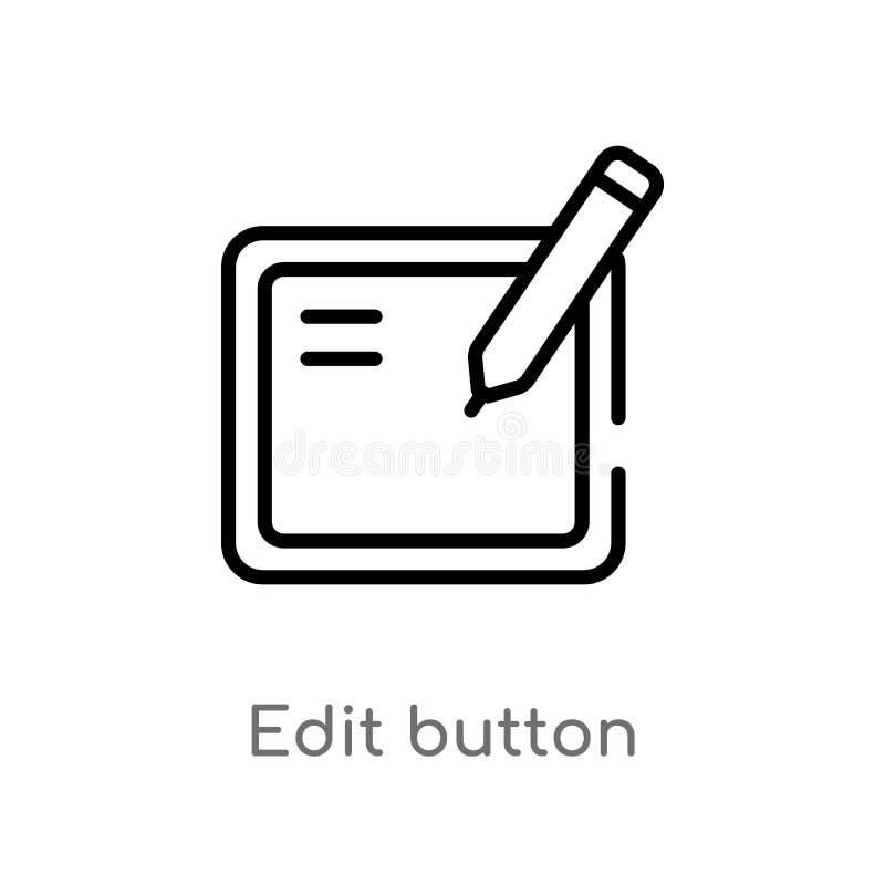 le contour éditent l'icône de vecteur de bouton r Vecteur Editable illustration de vecteur