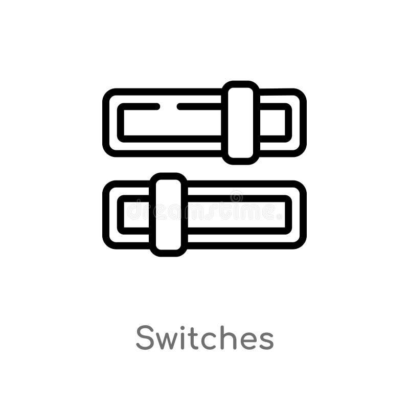 le contour commute l'ic?ne de vecteur ligne simple noire d'isolement illustration d'?l?ment de concept de multim?dia Course Edita illustration libre de droits