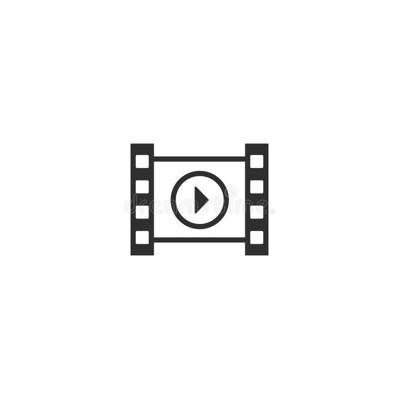 le contour d'icône de pellicule cinématographique a isolé 8 illustration libre de droits