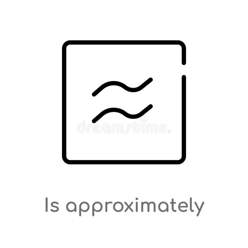 le contour est approximativement ?gal pour diriger l'ic?ne ligne simple noire d'isolement illustration d'?l?ment des formes et de illustration de vecteur