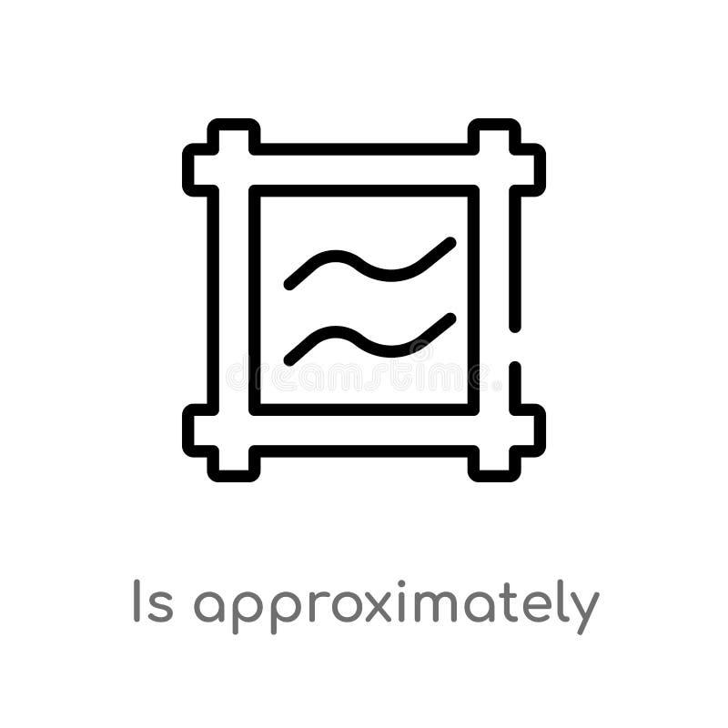 le contour est approximativement ?gal pour diriger l'ic?ne ligne simple noire d'isolement illustration d'?l?ment des formes et de illustration libre de droits