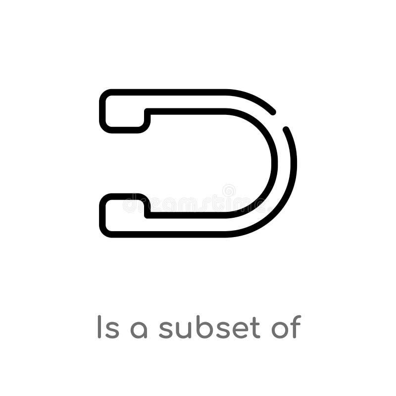 le contour est un sous-ensemble d'ic?ne de vecteur ligne simple noire d'isolement illustration d'?l?ment de concept de signes la  illustration libre de droits