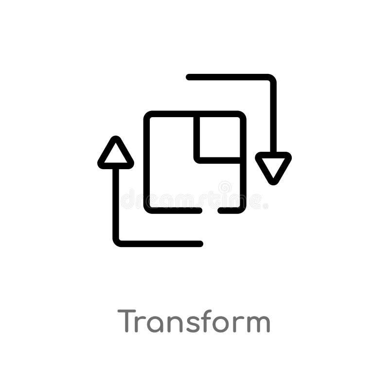 le contour transforment l'icône de vecteur r Vecteur Editable illustration stock