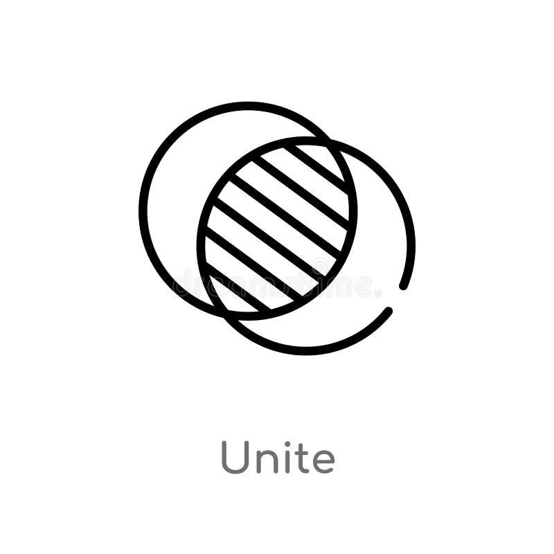 le contour unissent l'icône de vecteur r Course Editable de vecteur illustration libre de droits
