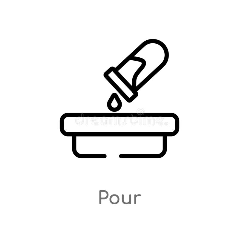 le contour versent l'icône de vecteur ligne simple noire d'isolement illustration d'?l?ment de concept de la science la course ed illustration libre de droits